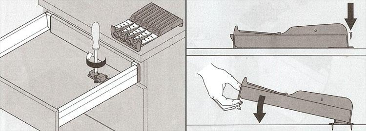 blum messerblock orga line neu messerhalter f r schubkasten messer ablage lade ebay. Black Bedroom Furniture Sets. Home Design Ideas