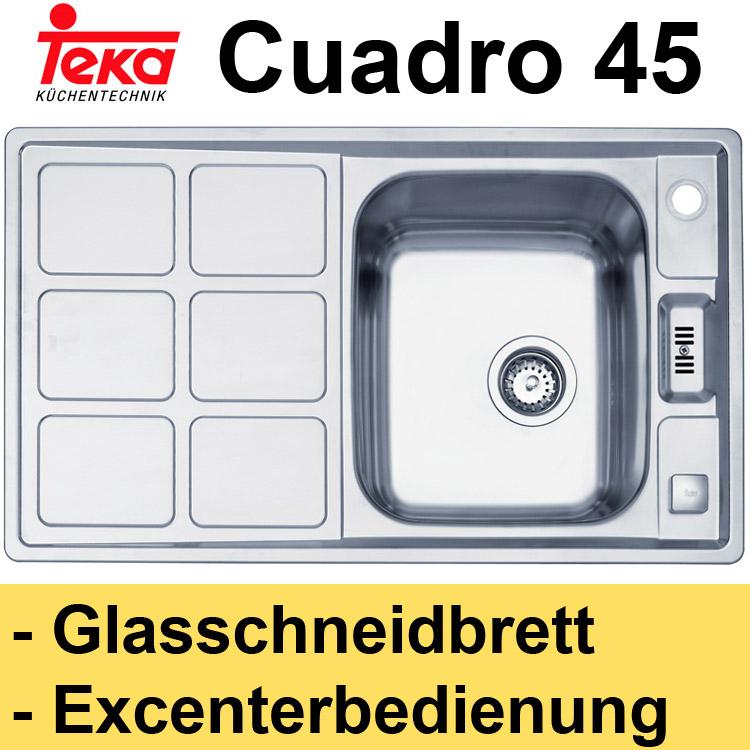einbauspüle teka cuadro 45 edelstahl spüle spülbecken  ebay ~ Spülbecken Teka